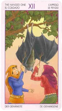 Старший аркан таро Повешенный (Таро ведьм)
