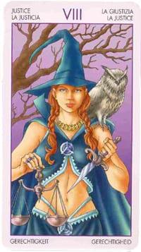 Старший аркан таро Справедливость (таро ведьм)